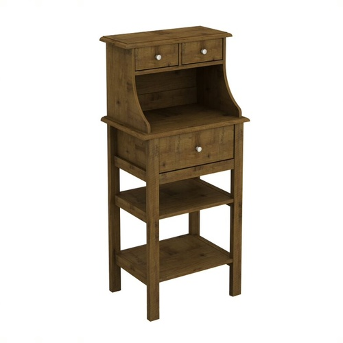 Brisbane 2+1 Drawer Console  (Full Oak )