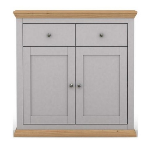 Cosmoliving 2 Door 2 Drawer Compact Sideboard (Grey)